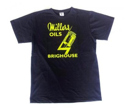 Tričko Millers Oils Brighouse (žlutý nápis)
