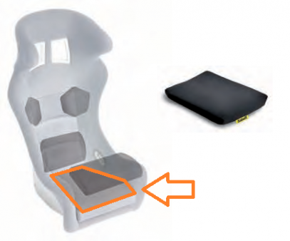 Sabelt polštář sedačky - stehna