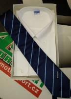 Sparco košile s dlouhým rukávem (bílá, XXL) + kravata