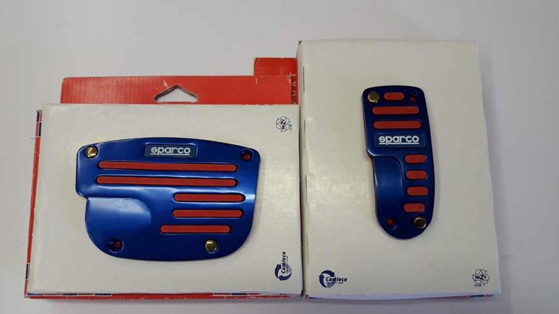 Pedály Sparco BLUE na automatickou převodovku