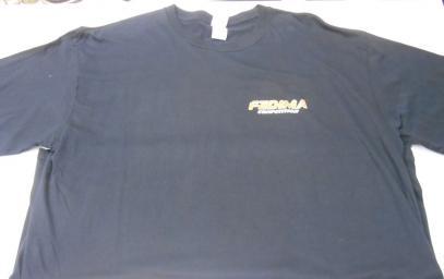 Tričko Fedima černé (XL)