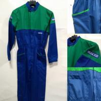 Montérky Sparco HOBBY modro-zelené (XL)