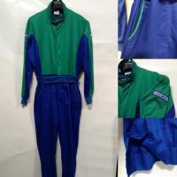 Montérky Sparco PIT STOP BIC modro-zelené (XL)