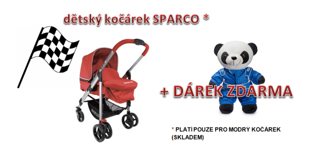 Sparco kočárek URBAN + panda MARCO SPARCO