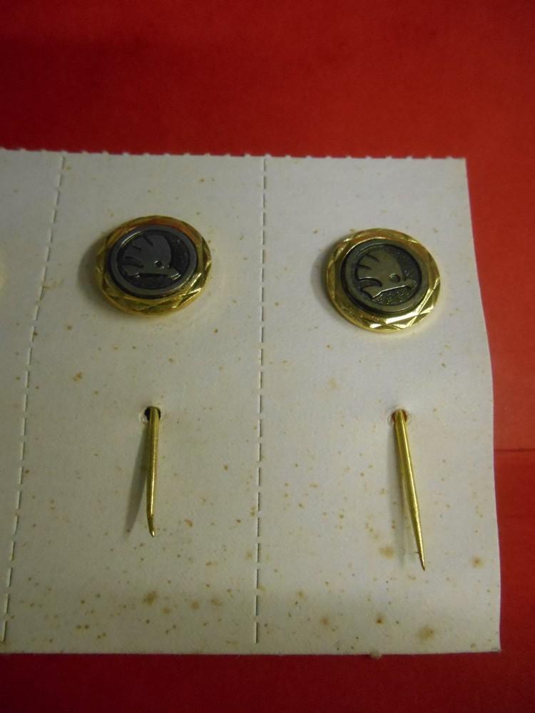 Škoda auto odznak (gold)