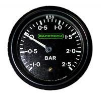 RACETECH mechanický ukazatel tlaku - turbo (-1,0 - +2,5)