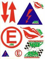 FIA samolepky - arch A4