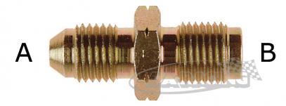 D-03 Aeroquipe adaptér propojovací D-03 (3/8) / 3/8UNF rovný