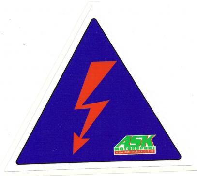 Samolepka 6 cm (blesk) označení odpojovače Racerbuggy