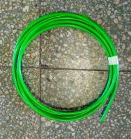 Brzdová hadice D-03 teflonová s plastovou ochranou (zelená, 4,12 m)