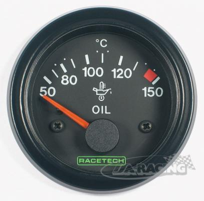 RACETECH elektrický ukazatel teploty oleje 50-150 °C