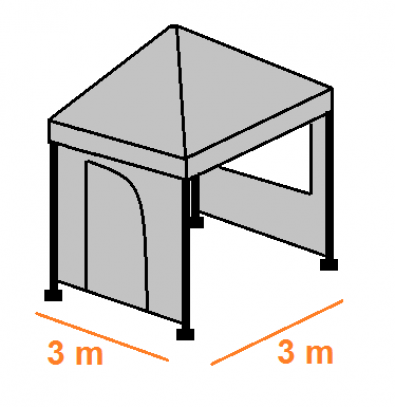 Stan 3 x 3 m  - bočnice (komplet)