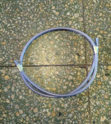 Brzdová hadice D-03 teflonová s plastovou ochranou (průhledná, 1 m)
