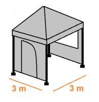 Stan 3 x 3 m - bočnice (komplet) AKCE