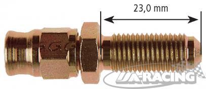 D-03 Aeroquipe adaptér s maticí 3/8 UNF dlouhý