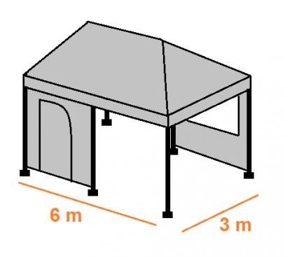 Stan 6 x 3 m - střecha