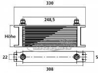 Olejový chladič MOCAL - série 6 (44 chladicích šachet)