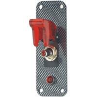 Startovací panel carbonlook (1 vypínač)