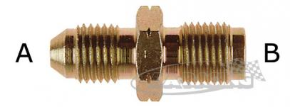 D-03 Aeroquipe adaptér propojovací D-03 (3/8) / M10 x 1 konvex