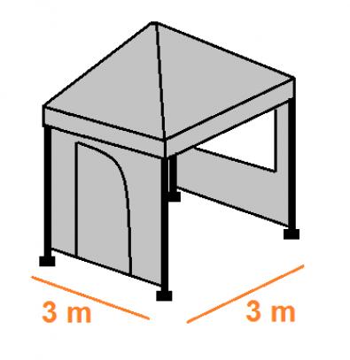 Stan 3 x 3 m - střecha (modrá) AKCE