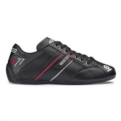 Sparco boty TIME 77 PELLE (černá s červenou, 41)