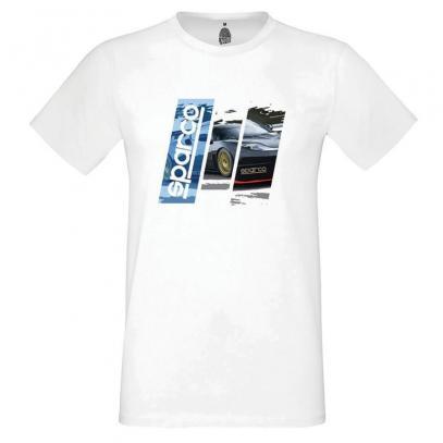 Sparco tričko TRACK bílé (vel. M)