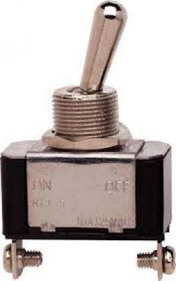 Ocelový páčkový vypínač ON-OFF (25 A/12 V) šroubky