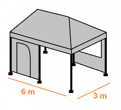 Stan 6 x 3 m kompletní
