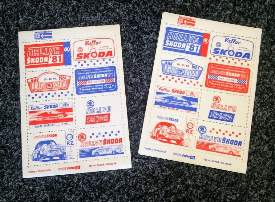 Sada známek Rallye Bohemia 1981