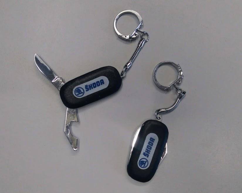 Přívěsek Škoda - nožík + otvírák
