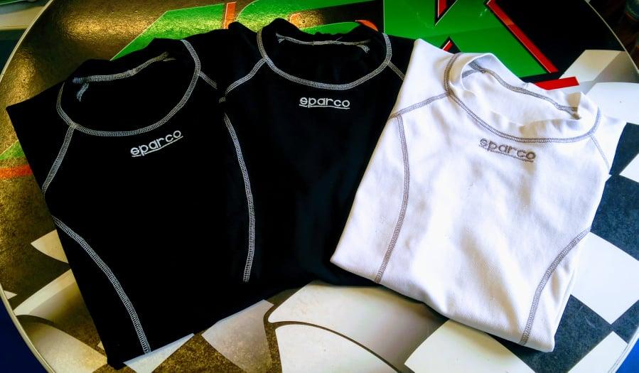 Sparco triko BASIC karting krátký rukáv (XS, bílé)
