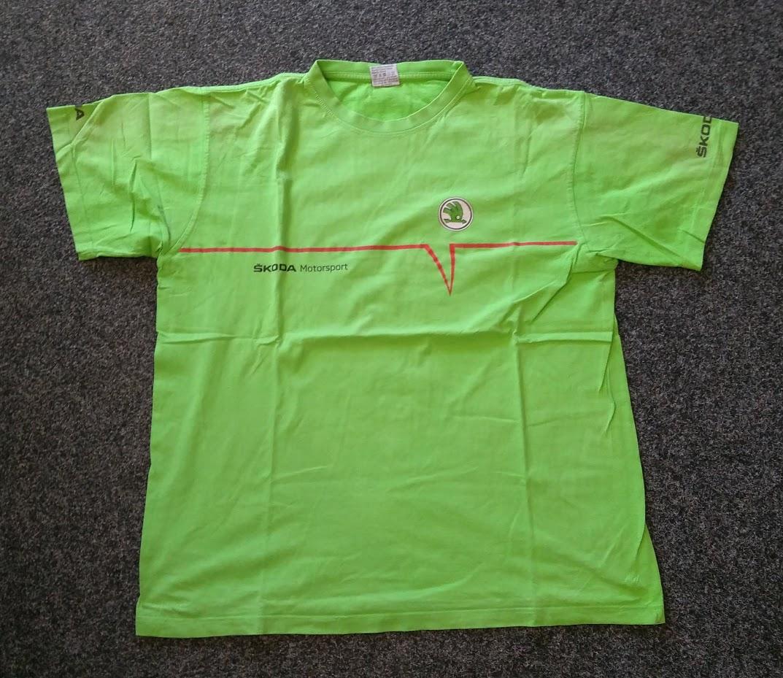 """Škoda Motorsport - triko světle zelené """"V"""" (XXL)"""