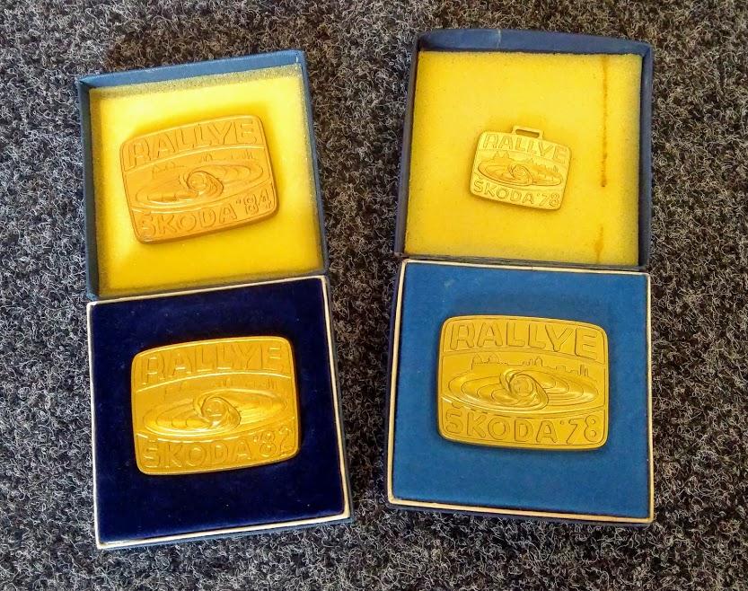 Pamětní medaile Rallye Škoda 1984 (bez krabičky)