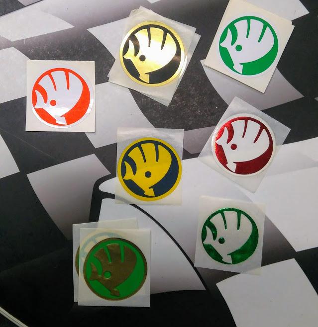 Samolepka - barevné logo Škoda (1 ks)