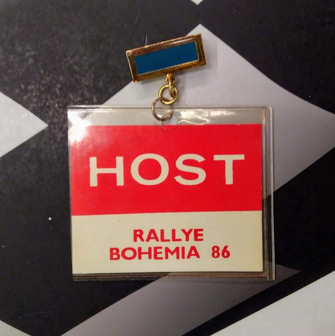 Visačka HOST Rallye Bohemia 1986
